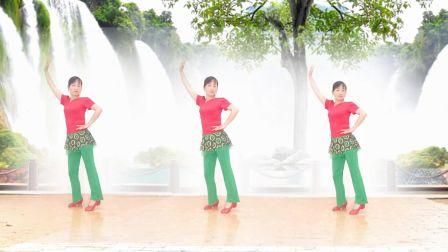 玫香广场舞《山不转水转》正面演示