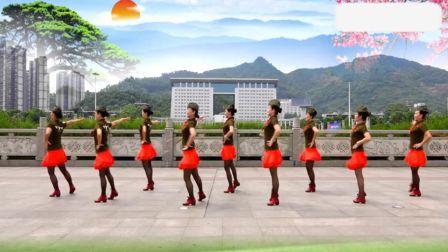 吉美广场舞原创《情歌赛过春江水》正面演示超清