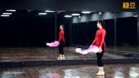 糖豆广场舞课堂《弱水三千》简单好看扇子舞形体舞 附分解